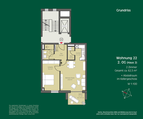 Haus 2 Wohnung 22 2 Og